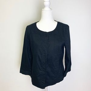 NWOT AK Anne Klein Black Blazer Jacket Top